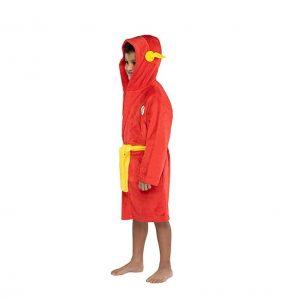 INTIMO DC Comics Kids Plush Fleece Hooded Robe