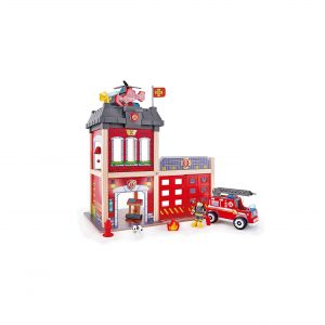 Hape Fire Station Playset Wooden Dollhouse