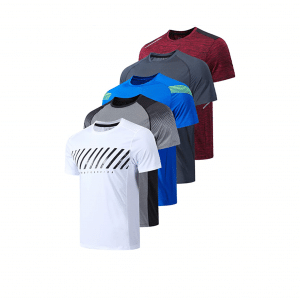 Liberty Imports 5 Pack Men's Active Quick Dry T-Shirts - Copy