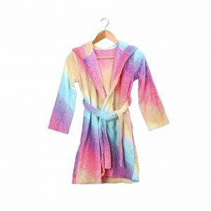 Slumber Party Rainbow Fleece Robe Bathrobe