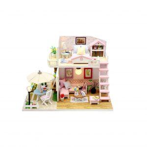TODY Pink DIY Miniature Dollhouse Kit
