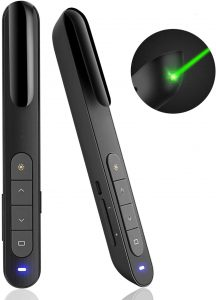 AMERTEER wireless presenter with green light laser