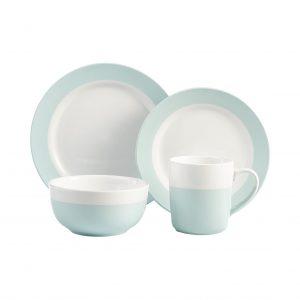 American Atelier Serene Round Dinner 16 Pieces Stoneware Plates