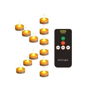 Wilrigir Flameless Tea Lights Bulk