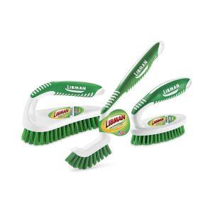 Libman Scrub Kit with 3 Durable Brushes - Green White