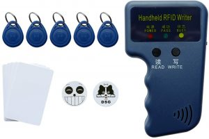 WILSHIN RFID 125KHz Card Reader Writer with 5 Pieces of Keyfob