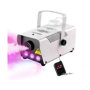 Eletecpro Halloween Colorful Fog Machine 500W LED Smoke Machine