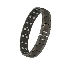 Smarter LifeStyle Elegant Double Magnet Titanium Magnetic Therapy Bracelet