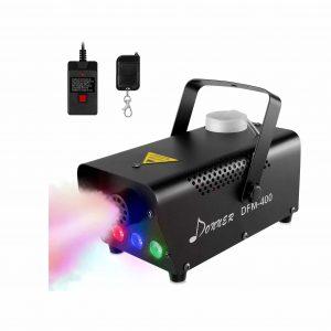 Donner Halloween 400W Fog Machine with RGB LED Lights