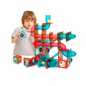 GAMZOO Stem Learning Magnetic Marble Run Race Track