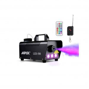 AGPTEK Fog Machine with Colorful LED Light