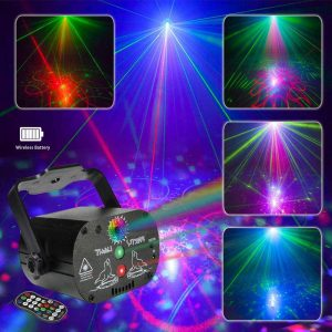 AMKI Party Light Stage Laser Light with Remote Control