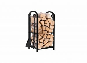 Amagabeli GARDEN & HOME Fireplace Log Rack w: 4 Tools