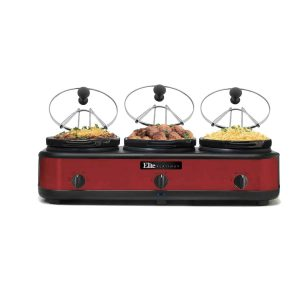 Elite Platinum Maxi-Matic Triple Slow Cooker