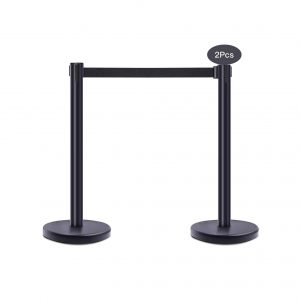 Jeeys Stanchion Post Crowd Barrier with 6.5 Ft Retractable Belt