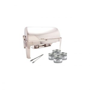 PrestoWare Full Size 16 Inches Stainless Steel with 4 Chafing Dishes