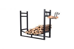 PHI VILLA Heavy-Duty Log Rack for Indoor & Outdoor Use, Black