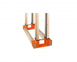 SnugNiture Adjustable Firewood Storage Rack, Orange