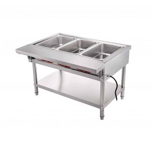 VBENLEM Steam Table 1500W 3 Pots Food Warmer