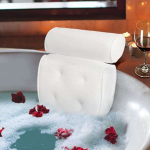 Samplife Bathtub Cushion Pillow w: 4 Non-Slip Suction Cups