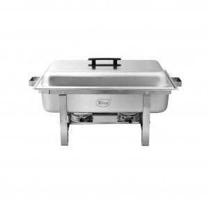 Zica 2 Packs 8 Quartz Stainless Steel Food Warmer with Foldable Frame