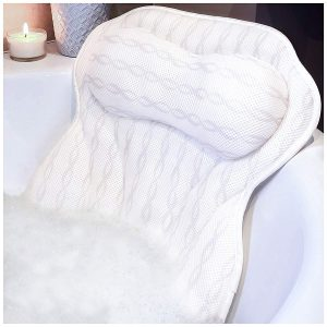 KANDOONA Luxury Bathtub Pillow w: 3D Breathable Air Mesh
