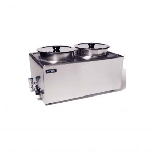 SYBO Commercial Grade Stainless Steel with Two Round Pots