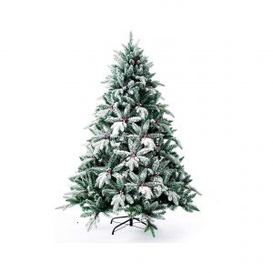 Senjie Artificial Christmas Tree 4.5FT with Snow Flocked