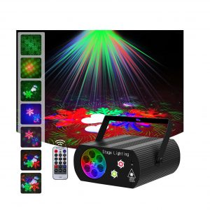 Hemucun Party Lights Sound RGB 2-In-1 Laser Project