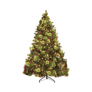 PRAISUN 6FT Pre-Lit 450 LED Tips Christmas Tree