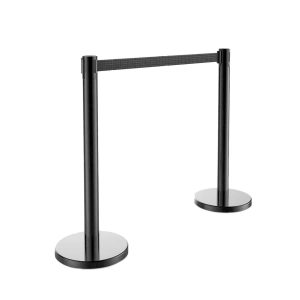 Makeronics 2 Pieces Heavy Duty Steel Black Stanchion Post