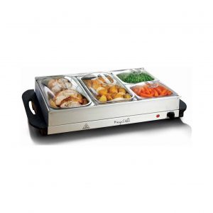 MegaChef Buffet Server Food Warmer with Four Sections