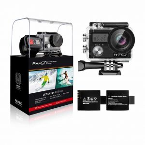 AKASO Brave 4 20MP Action Camera with 2 Batteries