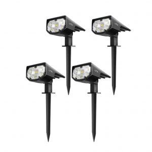 LITOM Wireless 4 pack Solar Outdoor Spotlights