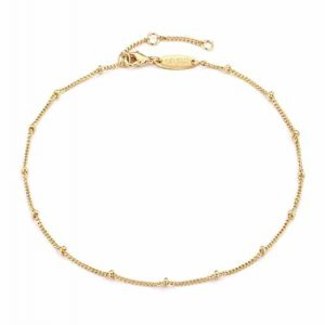 Mevecco Gold Star Charm Anklet 14K Gold Plated Foot Chain Anklet for Women