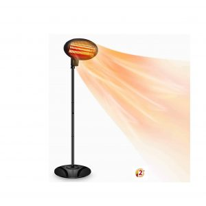SOARRUCY Patio Heater 1500W 3 Adjustable Power Levels
