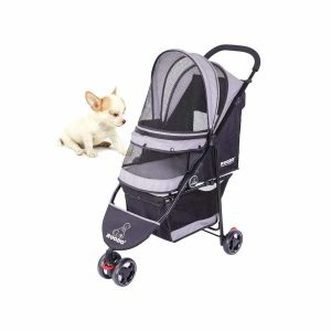 SeedFuture 3 Wheeler Pet Stroller Folding Travel Carrier