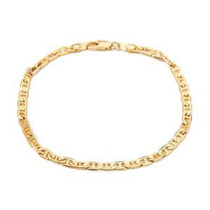 Kelistom 18K Gold Plated Flat Mariner Link Chain Anklet for Women Teen Girls