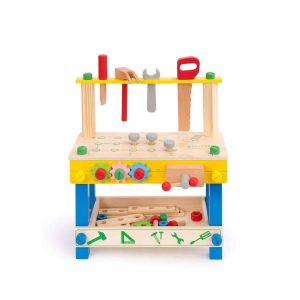 ROBUD Solid Wood Tool Stand Set for Toddlers and Kids