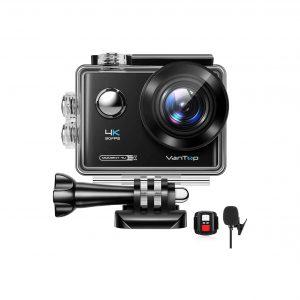 VanTop Moment 4K Action Camera with an External Microphone