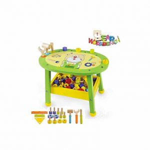 Arkmiido Kids Workbench Wooden Bear Master Workshop