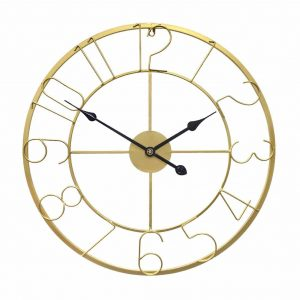 Growsun 30-inch Metal Outdoor Clock for Modern Decoration