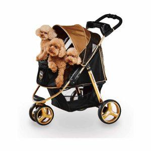 Ibiyaya 3 Wheels Dog Stroller 44lbs Aluminum Frames