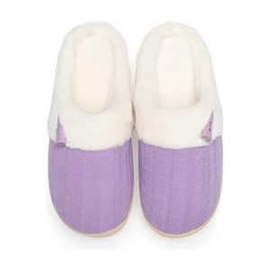 NineCiFun Fuzzy House Memory Foam Slippers