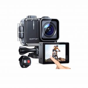 APEMAN A100 Action Camera with an EIS Remote Control