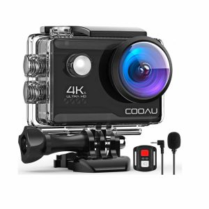 COOAU 4K 20MP Action Camera with 20 Accessories