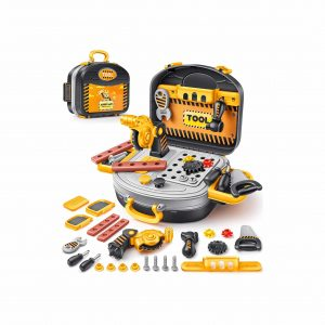 Geyiie Tool Workbench, Kids Construction Tool Set