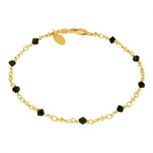 LIFETIME JEWELRY Ankle Bracelet 24K Gold Plated for Women Teens and Girls