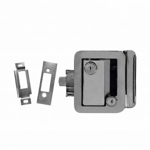 NEW Chrome RV Camper Trailer Motorhome Paddle Entry Door Lock
