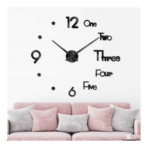 Becofyuo Large 3D DIY Outdoor Clock for Modern Decoration